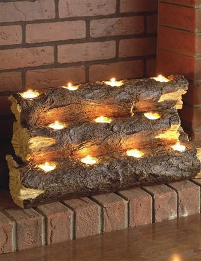 fireplace tealights