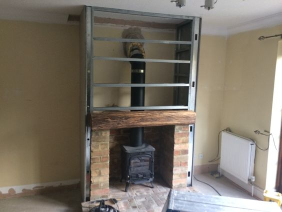 false fireplace for stove