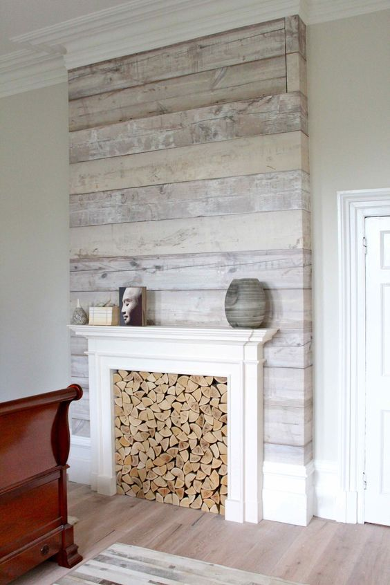 false fireplace wallpaper
