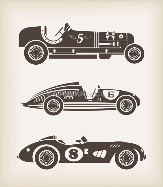 vintage racing car mural wallpaper sport