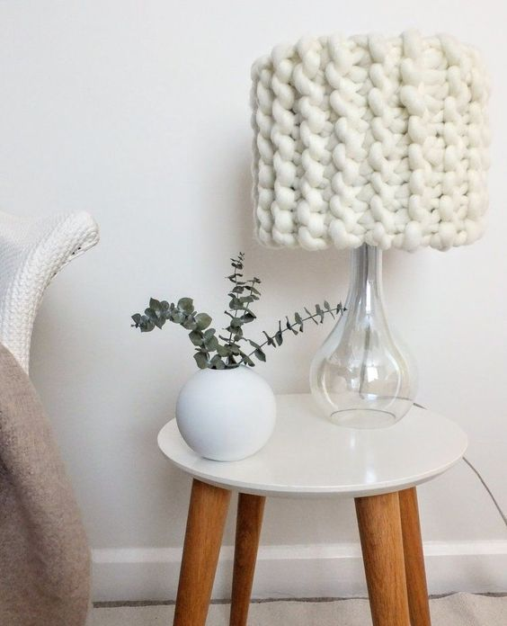 trends knitted lampshade