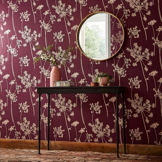 trends plum wallpaper