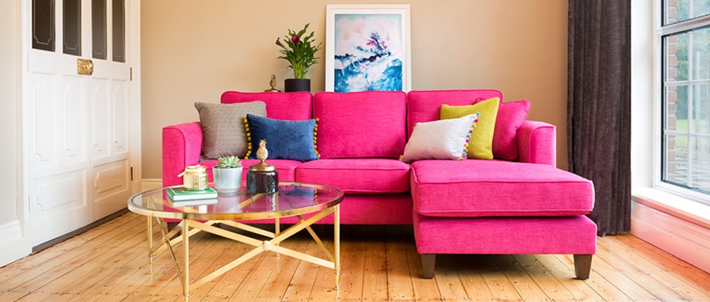 Nolan hot pink sofa