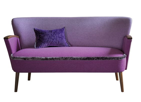 Purple sofa Designers Guild