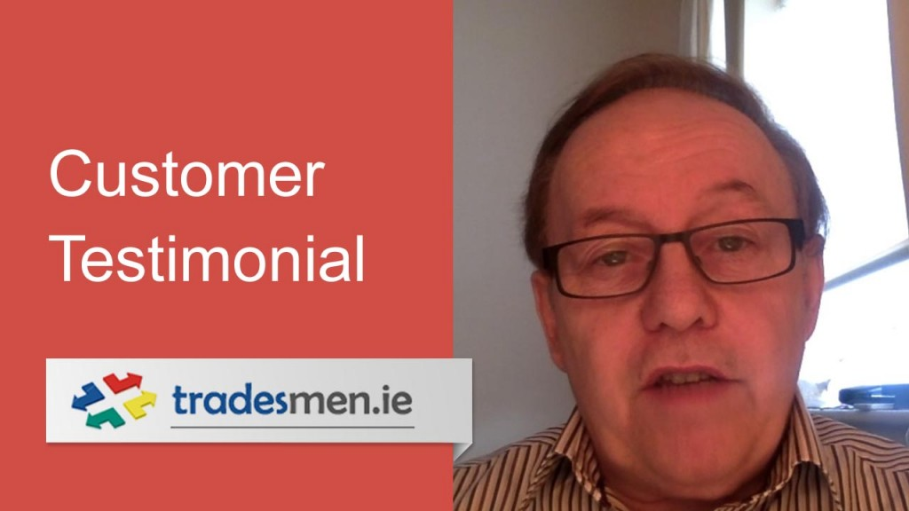 Harry Toye Video Testimonial for Tradesmen.ie