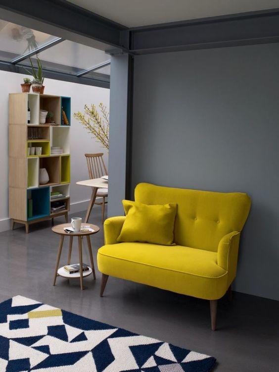 mustard sofa