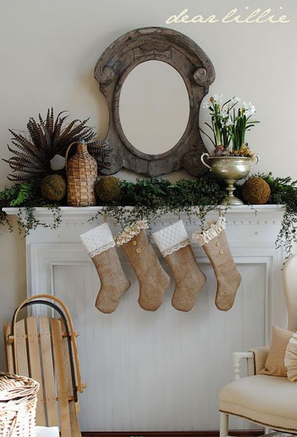 Christmas stockings neutral