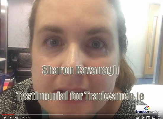 sharon kavanagh testimonial for Tradesmen.ie