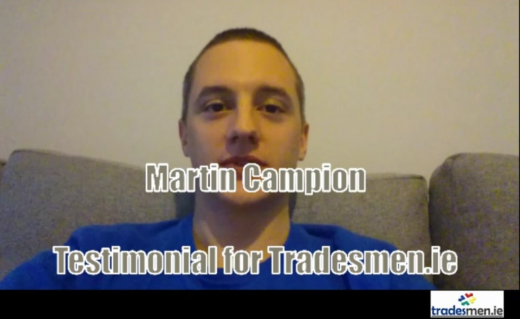 martin campion testimonial for tradesmen.ie