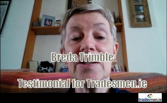 breda trimble testimonial for tradesmen.ie