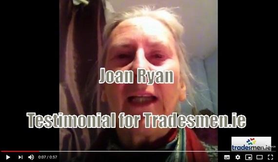 Joan Ryan Testimonial for Tradesmen.ie