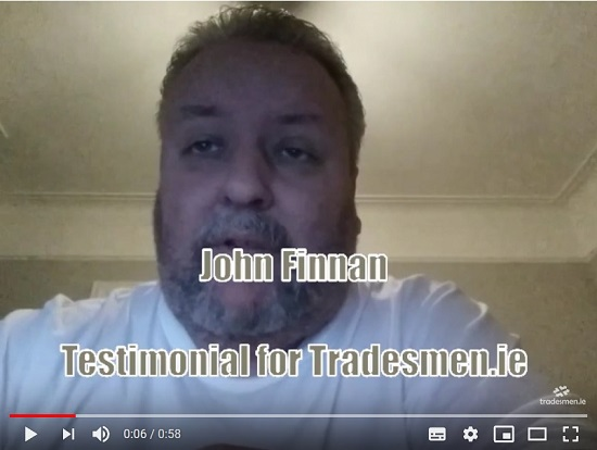 John Finnan Testimonial for Tradesmen.ie