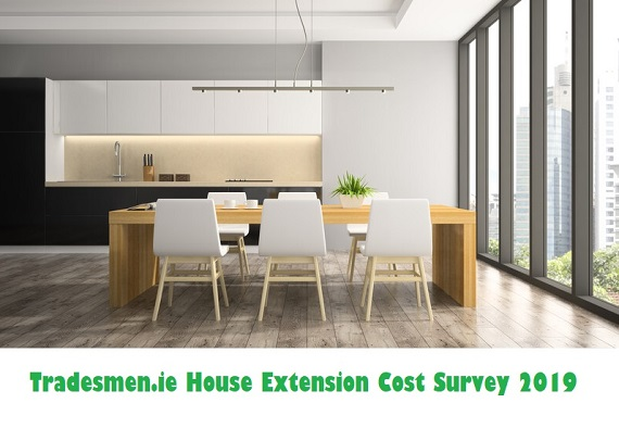 Tradesmen.ie house extension cost survey 2019
