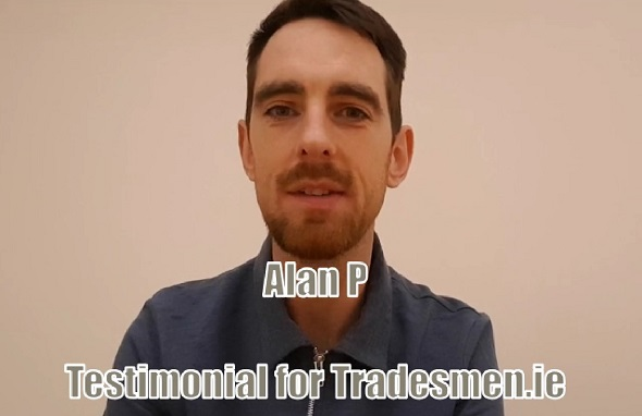 alan purcell testimonial for tradesmen.ie