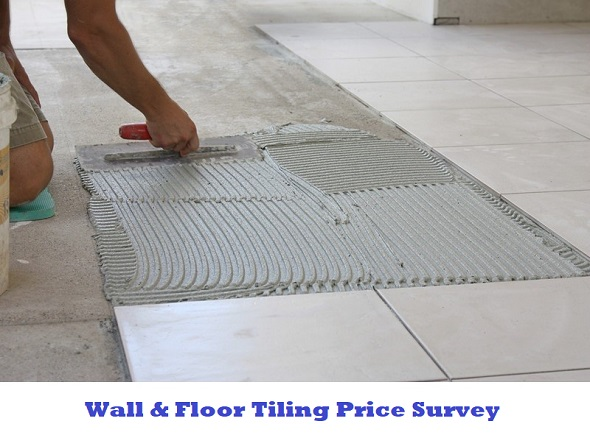 wall and floor tiling price survey