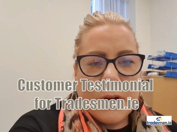 customer testimonial for tradesmen.ie